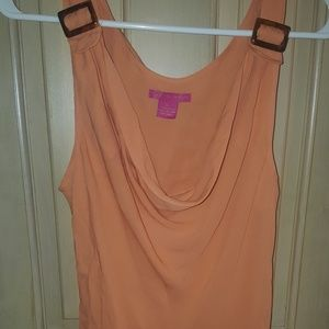 Misses sz XL Sunny Leigh peach silk shirt